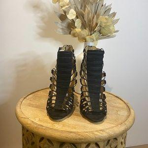 LAMB heels, black & white